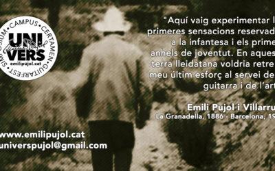 UNIVERS EMILI PUJOL | Guitarfest – Simpòsium – Campus – Certamen